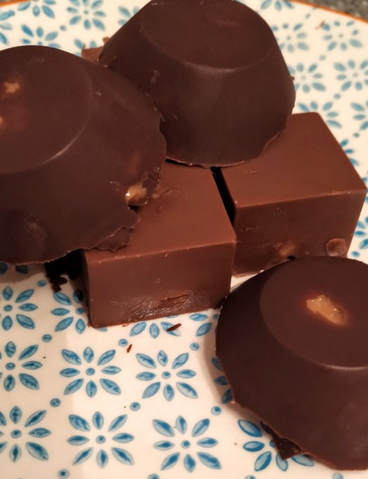 Handmade Milk and dark chocolate caramels