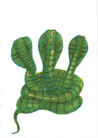 Luke Margetts Artist 3 headed cobra.